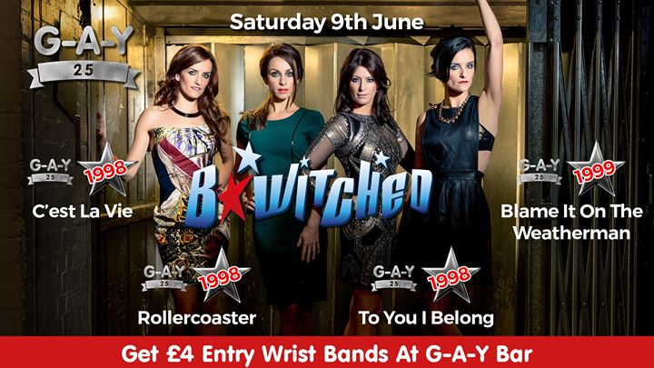 G A Y 25, B Witched Image