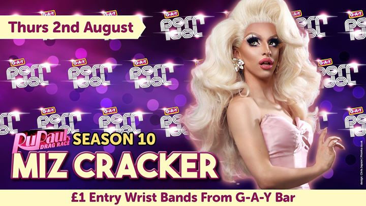 G A Y Porn Idol Guest Judge, RPDR S10, Miz Cracker Event Image