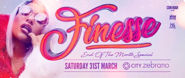 Finesse Bank Holiday Saturday Saturday Special Saturday 31st March Event Image
